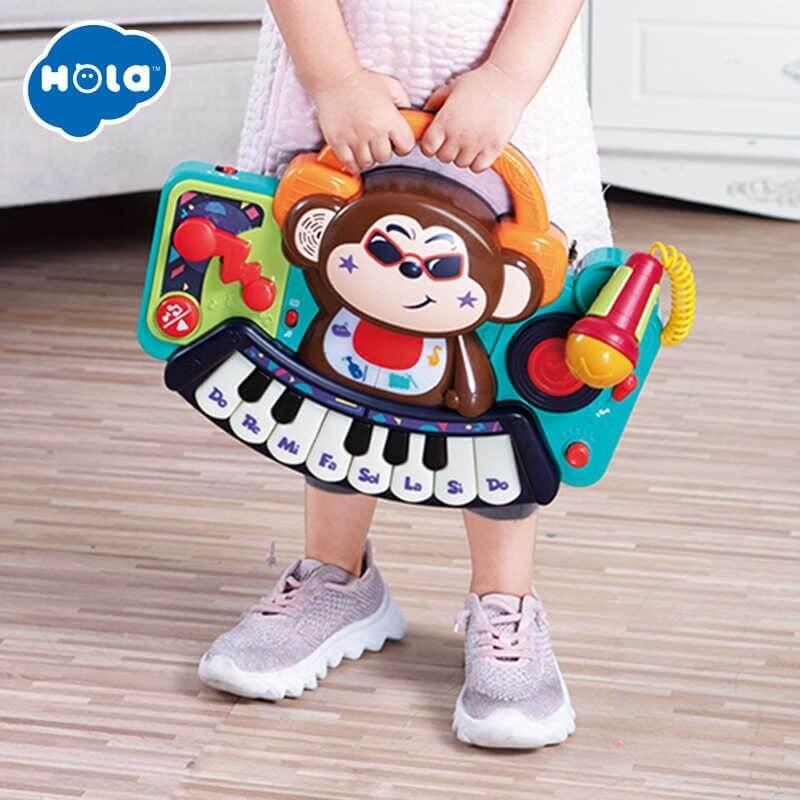 Αρμόνιο - DJ Monkey με μικρόφωνο