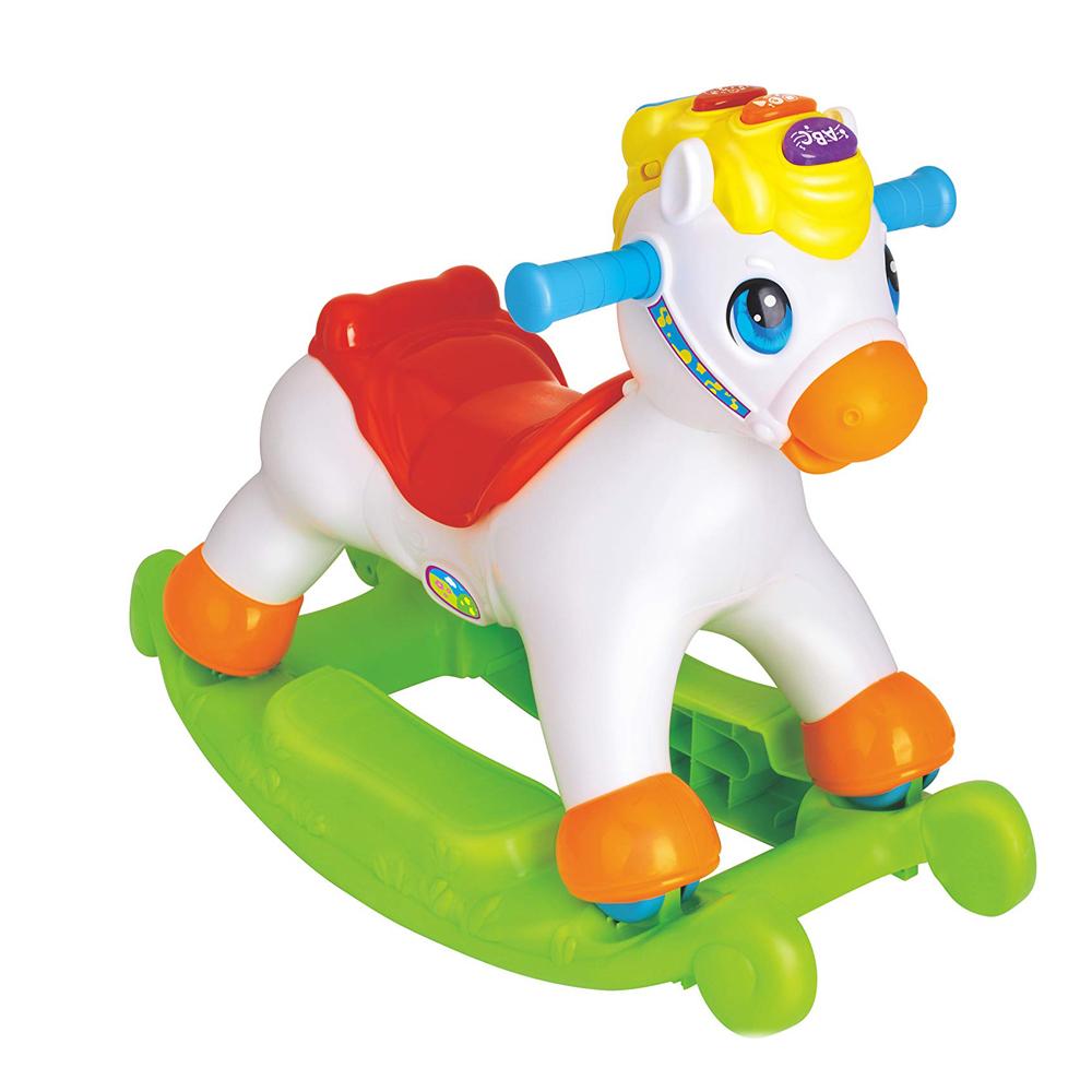Άλογο κουνιστό και όχημα με ήχο και φως