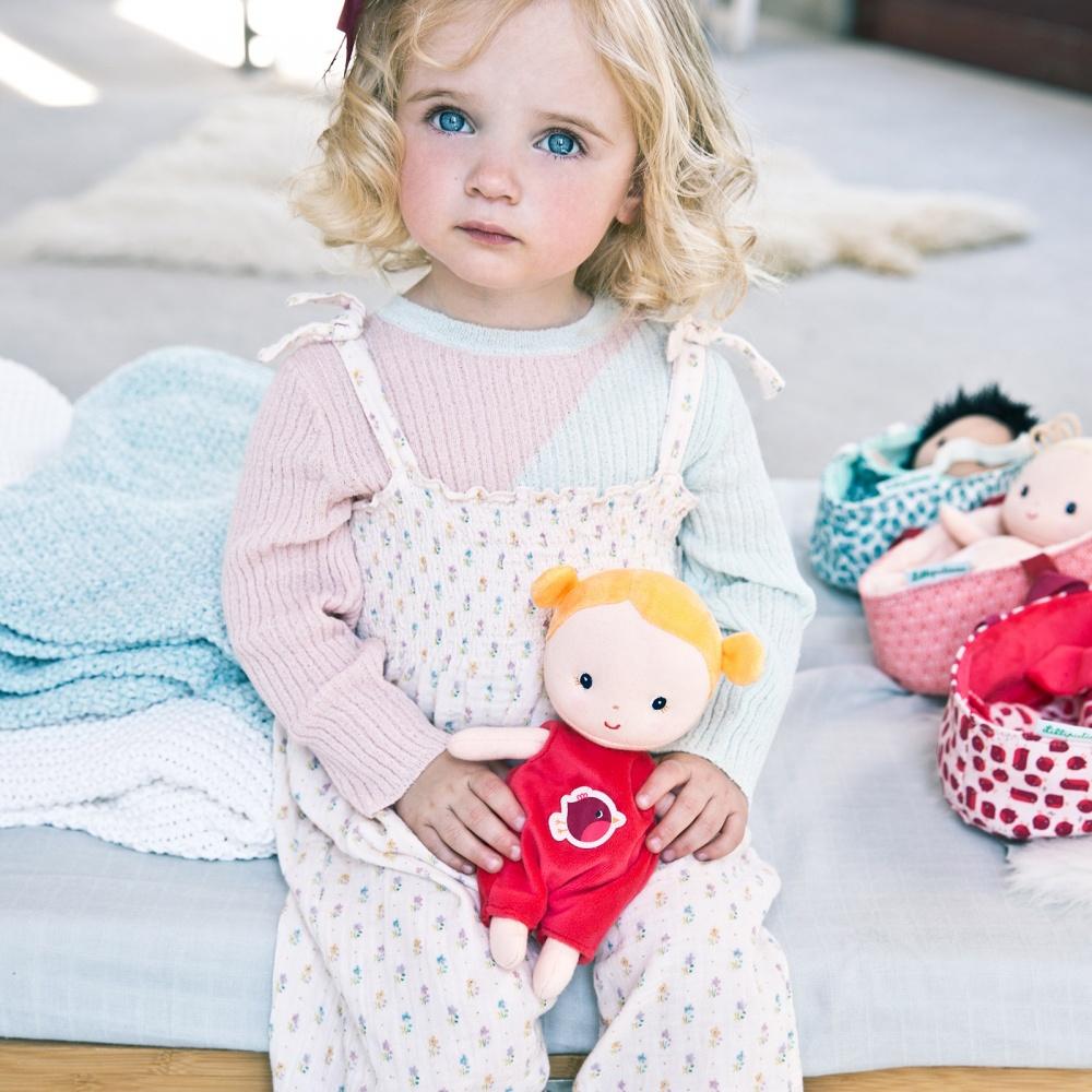 Κούκλα υφασμάτινη Agathe 22εκ.& πορτμπεμπέ