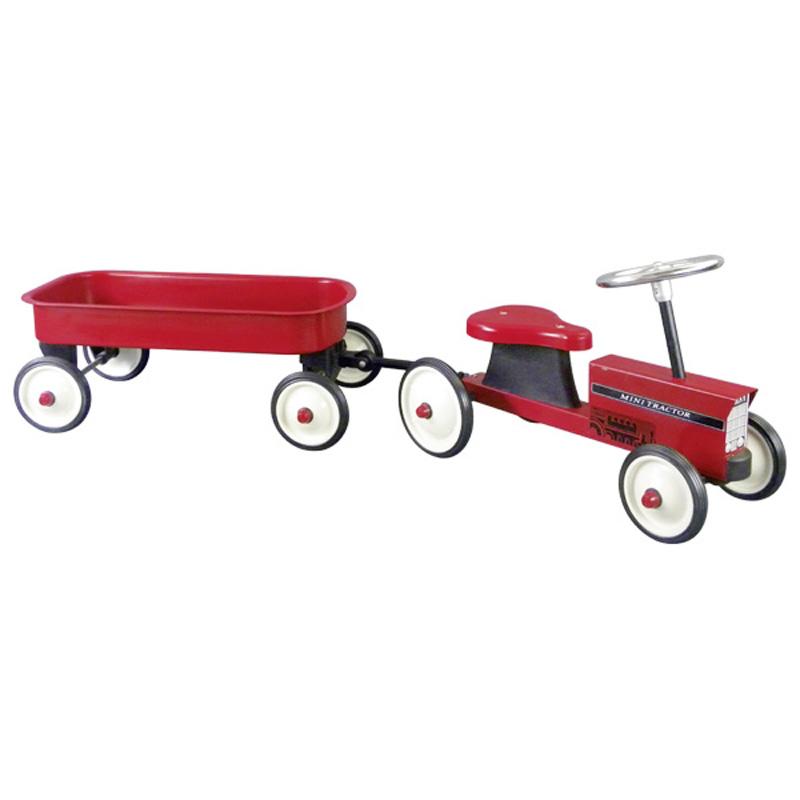 Τρακτέρ ποδοκίνητο με τρέιλερ