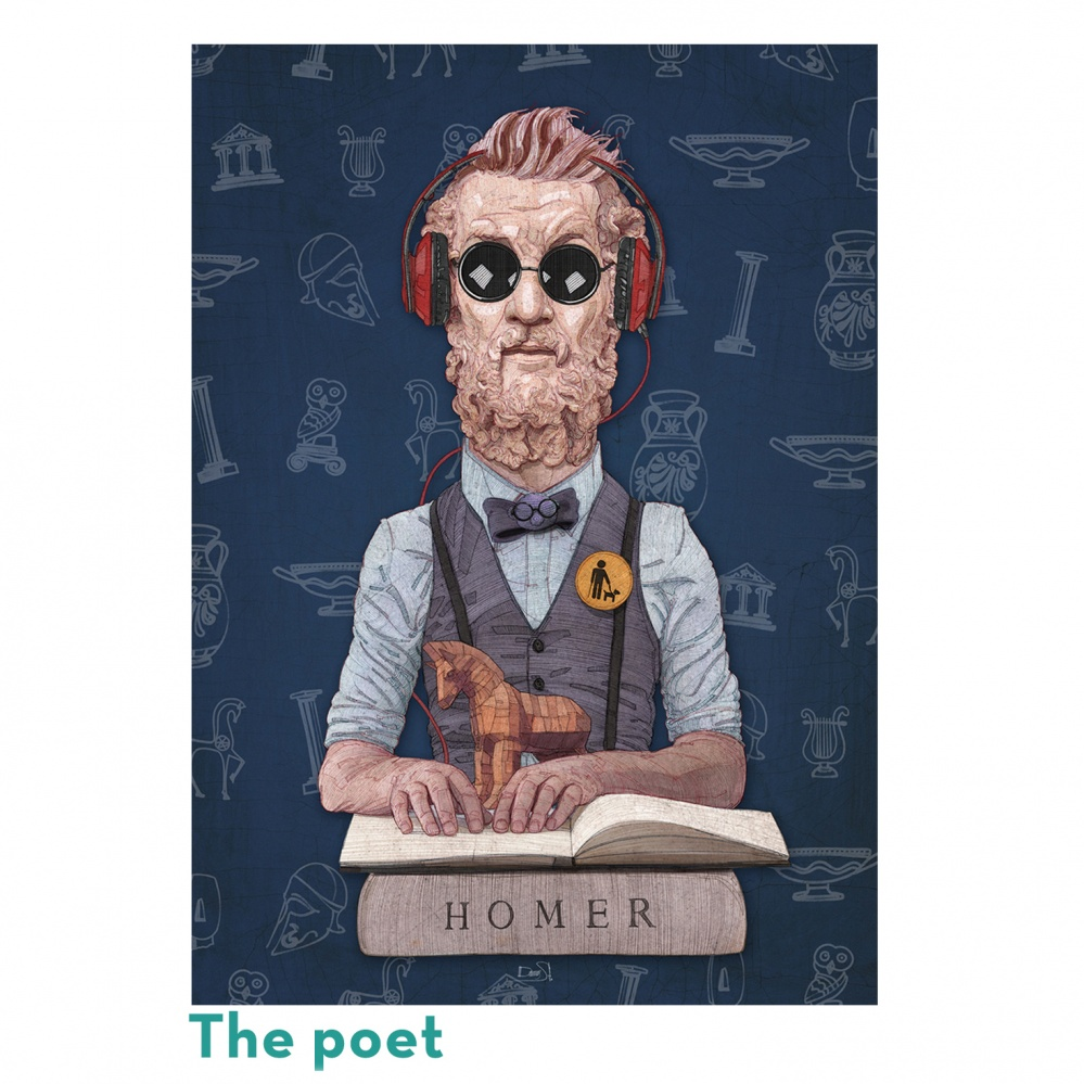 Παζλ- Όμηρος - The poet - 500τεμ
